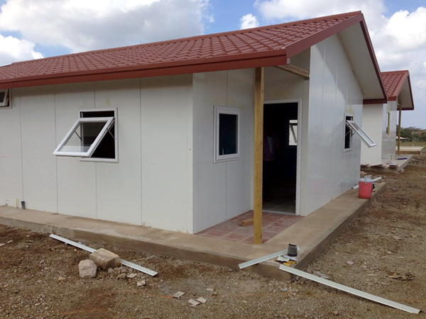 modular home almost complete