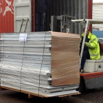 forklift loading sandwich panels