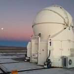 chiller on auxiliary telescope for cooling