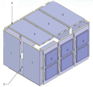 Mortuary chamber of modular panel design