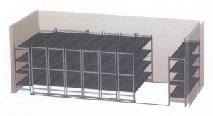 diagram of mobile shelving